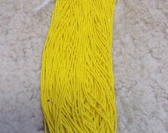 Opaque yellow seed beads size 11/0 czech seed beads