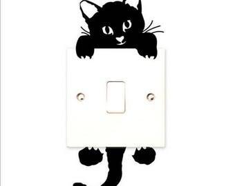 X 1 black cat to switch Sticker