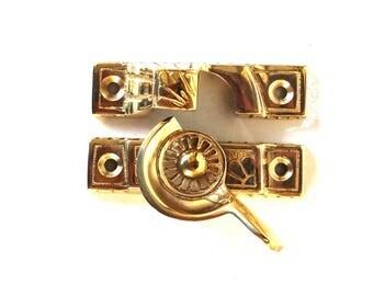Victorian Window Sash Lock in Solid Brass Old Style Restoration Hardware Latch
