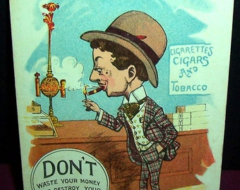 19-teens anti-smoking postcard