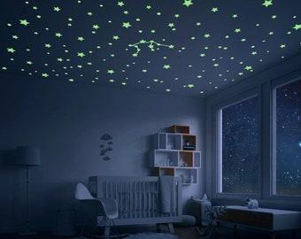 Glowing Stars, Constellation, Glowing star stickers, realistic glow stars, ceiling stars, ceiling stickers, stars for ceiling,glow stars