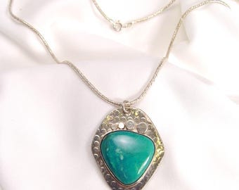Sleeping Beauty Turquoise Pendant Sterling Silver One of A Kind Necklace Ask For 10.00 Coupon Off Now