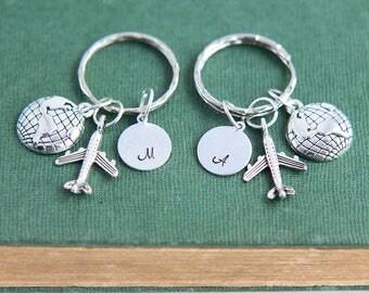 Long Distance Keychain, Long Distance Relationship Keychain, Friendship Keychains, Best Friend Keychain, Personalized Keychain, BBF Keychain