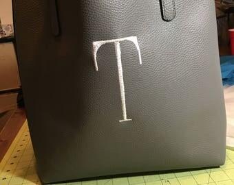 Monogram / Initial Vegan Leather Purse/Tote