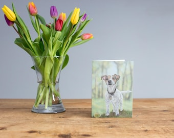 Milo - Jack Russell Terrier Greetings Card