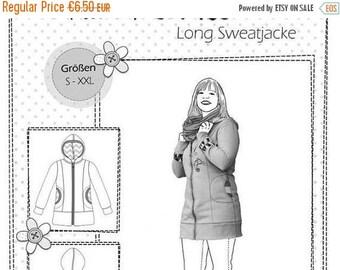 """Summer Sale Farbenmix pattern long Hooded Sweatshirt """"Wife Wilma"""""""
