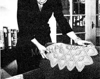 Pineapple Arm Chair Set Doily, Vintage Crochet Pattern, INSTANT DOWNLOAD PDF