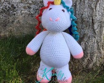 Large Unicorn Plushie - Stuffed toy unicorn