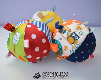 Ball with rattle toy-patchwork
