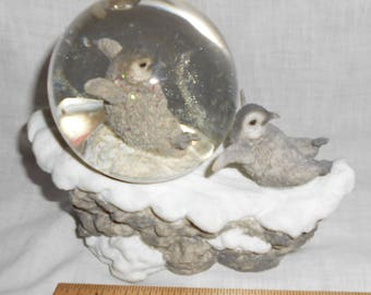 Penguin Water Globe Dome Musical Music Talk to the Animals