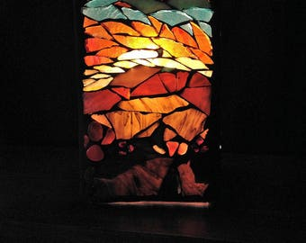 To order.  Jewel light sculpture mosaic stained glass lamp.