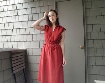 Women's warm orange vintage 60s/70s dress size small/medium