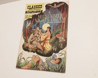 Classics Illustrated Midsummer Night's Dream (Summer 1969) comic book VGU