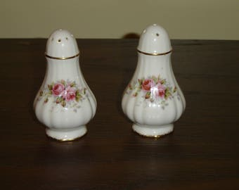 Paragon pink Rose salt and pepper shakers mint condition