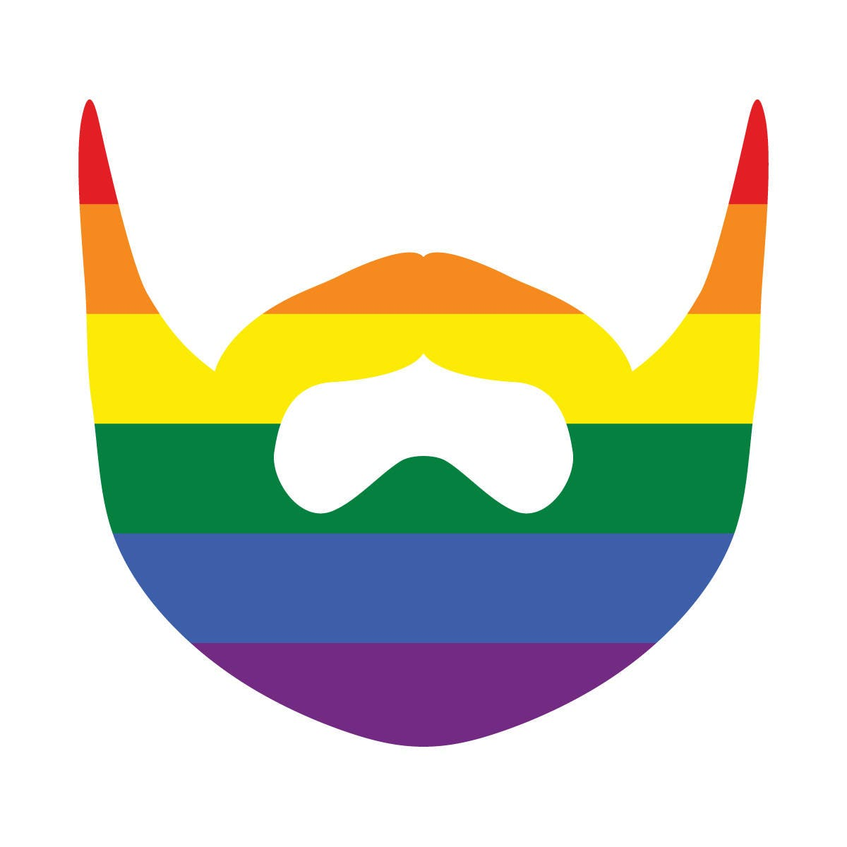 Pride flag colored beard lgbt rights gay lesbian bi transgender pride flag colored beard lgbt rights gay lesbian bi transgender unity love support pride symbol vibrant color vinyl decal buycottarizona