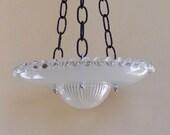 Hanging glass garden art bird feeder, glass garden art bird feeder, garden bird feeder, glass bird bath, bird bath bowl, outdoor bird bath