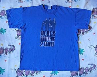 Vintage 90's Blues Brothers 2000 T shirt, size XL 1998 movie promo