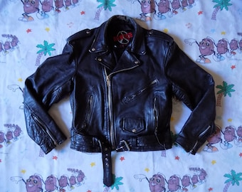 Vintage 90's Leather Motorcycle Jacket, size 38 by New Age International