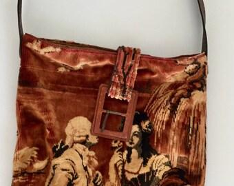 Handmade vintage tapestry handbag