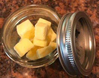 Sugar scrub cubes, lemon grass