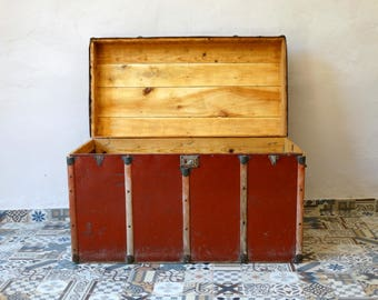 Large Chest, Chest Trunk, Steamer Trunk, Pirate Chest, Coffe Table, Antique Chest, Trunk Chest, Storage Trunk, Old Chest, Wooden Chest