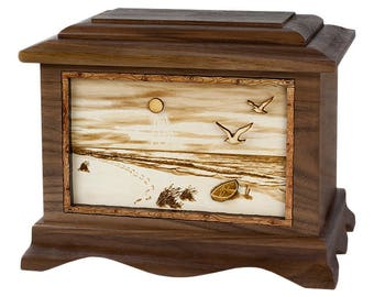 Walnut Beach Ambassador Wood Cremation Urn