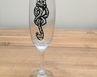 Dark Mark Harry Potter champagne flute