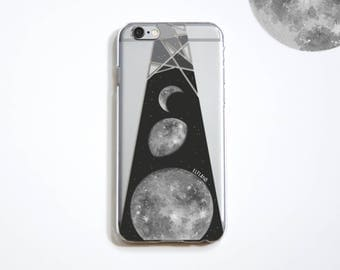 The Moon pattern phone case, for iPhone, Samsung