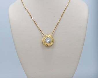 Estate Diamond Necklace .50ct. Diamond 18K Yellow Gold - J36478