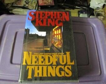 go to www.bavideo.shop for more books STEPHEN KING HARDBACK needful things 1991