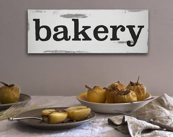 """Handcrafted Vintage Wooden """"Bakery"""" Sign"""