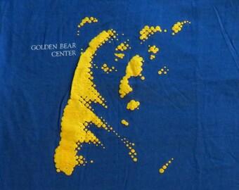 80's Vintage T Shirt Golden Bear Center UC Berkeley College University Mascot NOS Deadstock