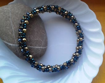 Golden crystal bead bracelet