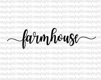 farmhouse SVG DXF file - cut file - silhouette - cameo - cricut