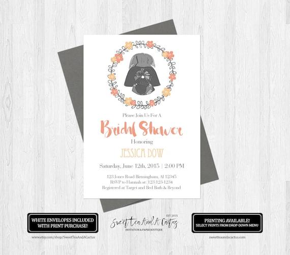 Star wars wedding shower invitations
