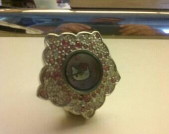 Retro Hello Kitty ring watch. 7.99 Rare. Works