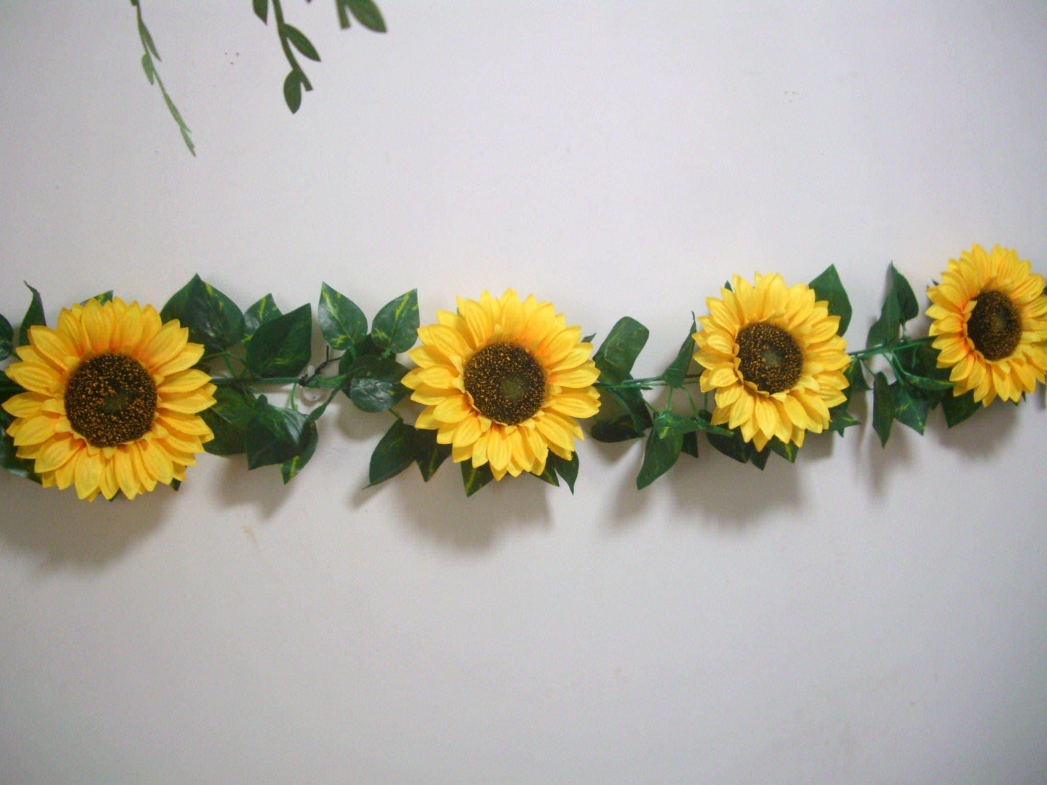 Sunflower Wedding decor,Sunflower Garland Banner,Silk Flower Garland ...