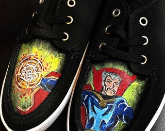 Custom made Doctor Strange Vans. Designed and personalized just for you!