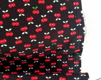 Tiny Happy Lucky - Cherries(Black) - Cynthia Frenette - Robert Kaufman - Sewing Fabric - Tiny print fabric - Quilt fabric
