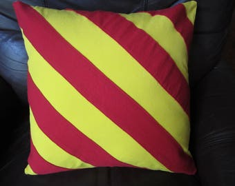 "Nautical flag pillow ""Y"" or ""Yankee"" or ""Dragging Anchor"""
