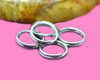 Double 6mm silver color rings
