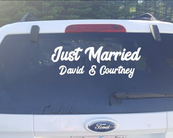 Just Married Car decal sticker Custom Personalized
