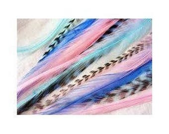 "6""-12"" Mermaid Grizzly Remix 5 Feathers"