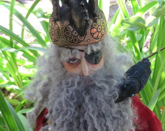 Odin, a OOAK cloth art doll