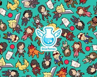 Final Fantasy VII Pattern ~ FF7 ~ Mug and Box Set