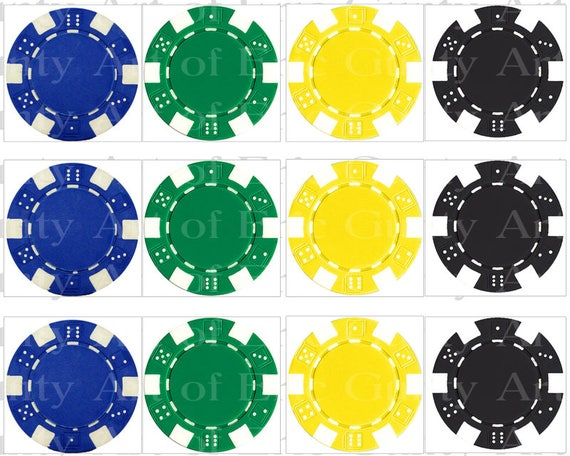 Las Vegas Casino Poker Chips Birthday - Designer Strips - Edible Cake Side Toppers- Decorate The Sides of Your Cake! - D22799