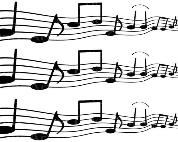 Musical Notes Band Birthday - Edible Cake Side Toppers- Decorate The Sides of Your Cake! - D22857