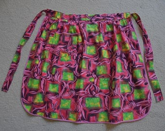 Vintage Cotton Apron 1960 -  1970's