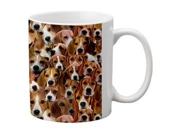 Beagles Face Coffee Mug