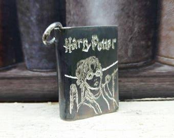 Harry potter Handmade unique sterling silver pendant OOAK